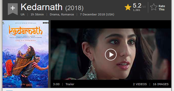 kedarnath full movie online watch free movierulz