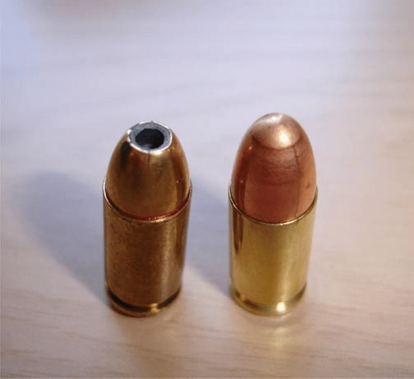 Is it more lethal to get shot with a hollow point bullet or