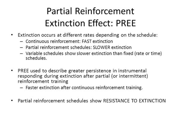 how do schedules of reinforcment affect Positive reinforcement 1 running head: positive reinforcement the effects of positvitve reinforcment on non-compliant behavior by.