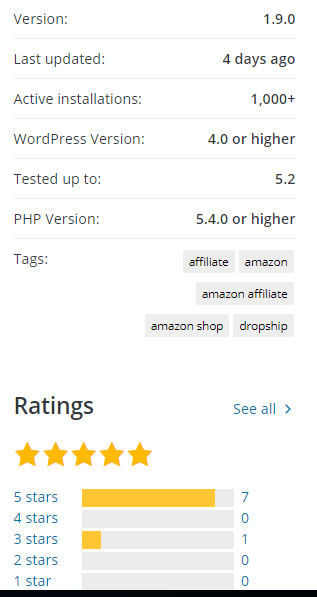 Which WordPress free plugin is best for Amazon affiliate marketing