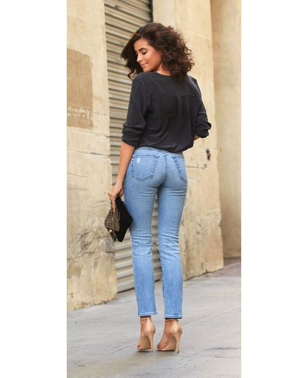 Image result for women walking wearing skinny jeans