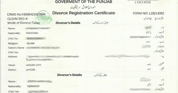 What is the procedure for getting a Nadra divorce