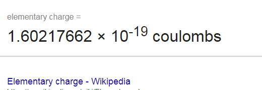 An Electron Is 1 Divided By A Number With 19 Zeroes Coulombs So Hopefully You Can Imagine How Mini Tiny Charge Compared To Coulomb Of