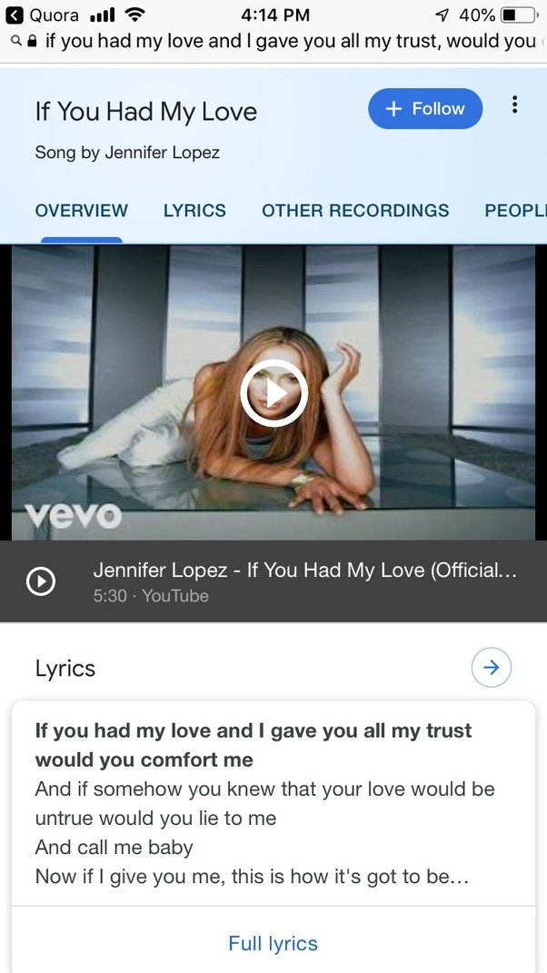 What Are The Rest Of The Lyrics To This Song If You Had My Love And I Gave You All My Trust Would You Comfort Me Quora
