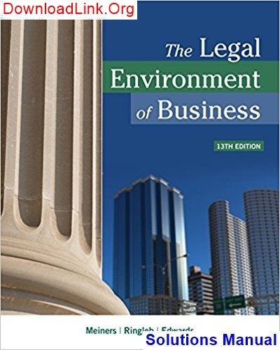 the legal environment of business 13th edition pdf download