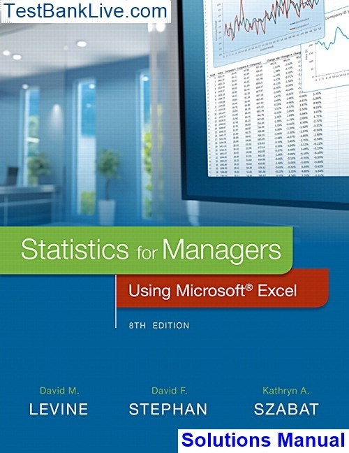 Where can I get Solutions Manual for Statistics for Managers