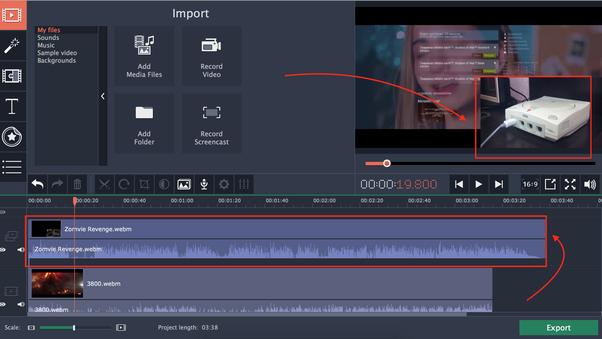 filmora video editor split screen