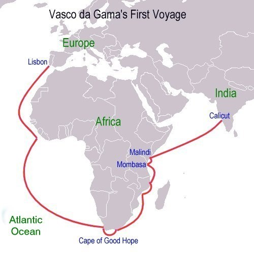 The Vasco Da Gama S Fleet As It Reached Port Of Malindi Elished An Understanding With Local Sailors To Guide Them India Coast