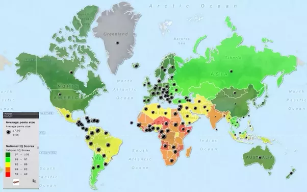 Where are racists concentrated on the bell curve of iq quora map shows worlds most racist countries gumiabroncs Gallery