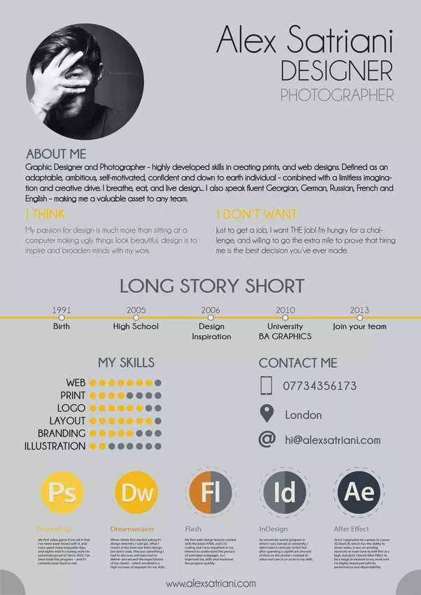 How To Make An Attractive Cv For It Quora