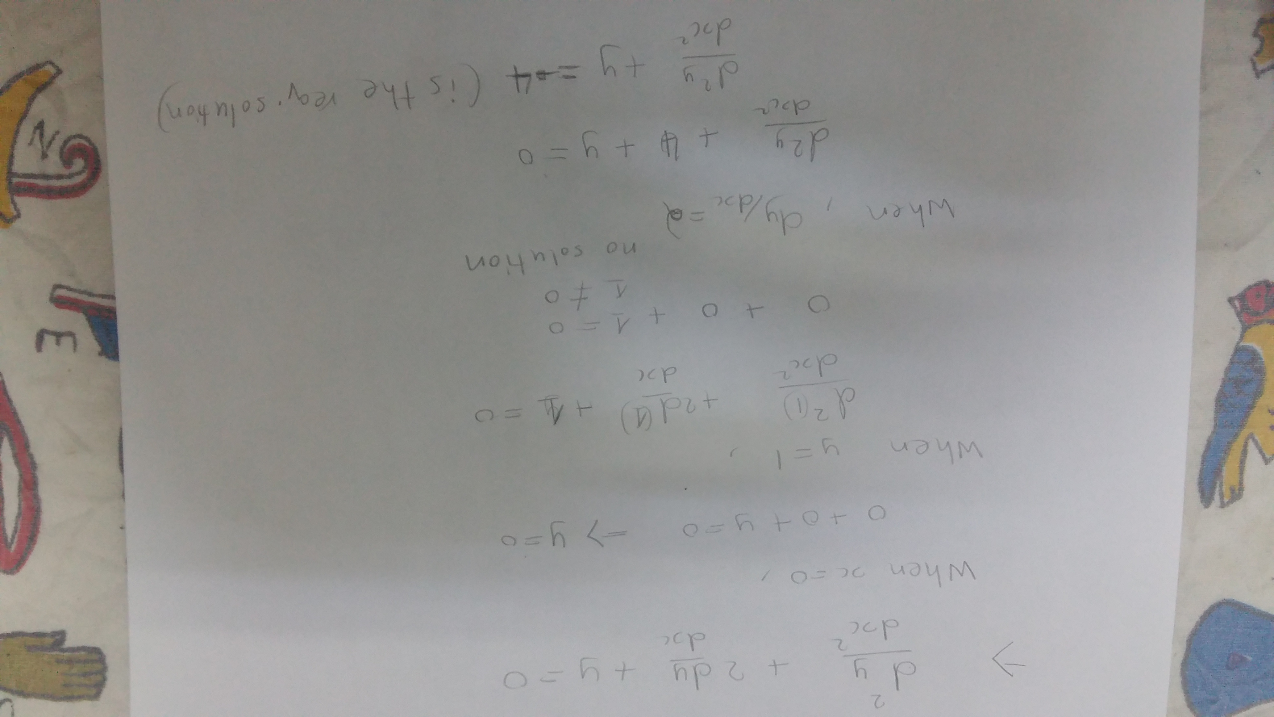 What Is The Solution Of Differential Equation D 2y Dx 2 2 Dy Dx Y 0 When X 0 Y 1 Dy Dx 2 Quora Play shooting games for free on y0.com! differential equation d 2y dx 2