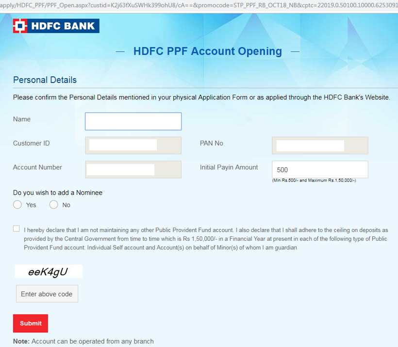 Can I open PPF account in HDFC Bank? - Quora