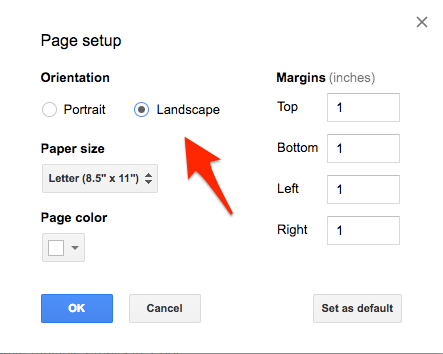 How To Make A Single Page Landscape In Google Docs Quora - How do you create a google doc