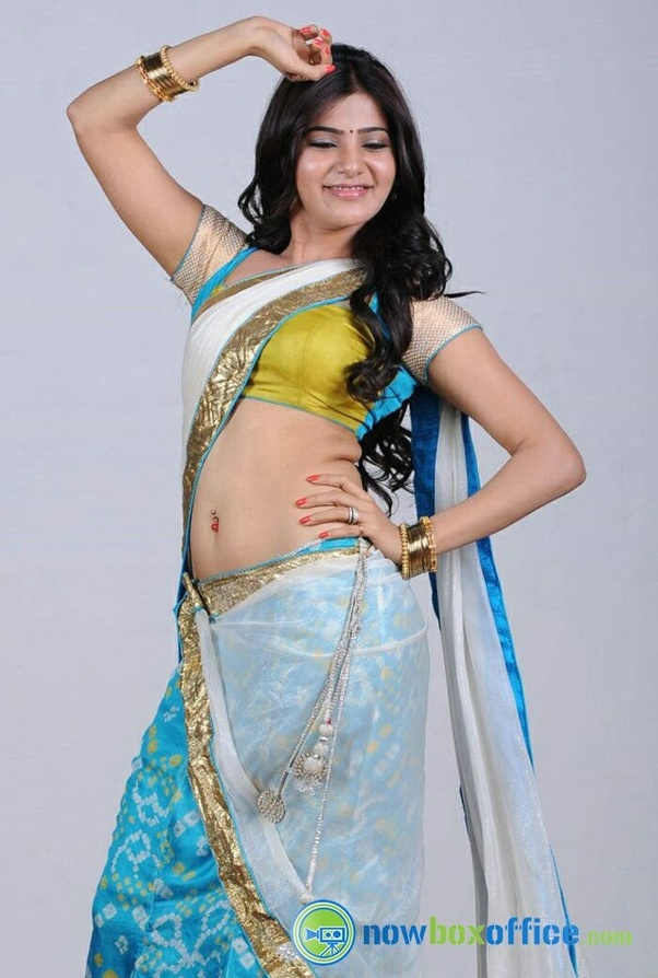 Is There Any Indian Actress Whom You Admire For Her Low Waist, Below The Navel Saree -3660