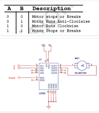 What link can you recommend for a circuit to rotate DC motor in