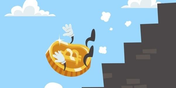 Bitcoin cartoon falling