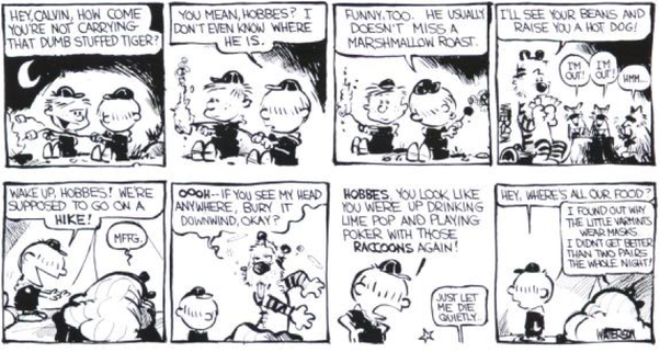 How Do Early Calvin And Hobbes Strips Differ From Later