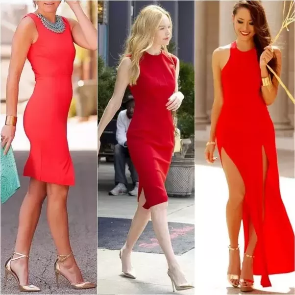 What colors shoe do i wear with a red dresses