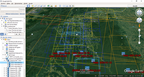 How to know the last time Google Earth data was updated - Quora