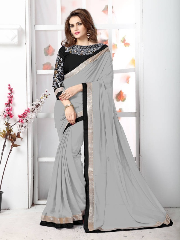 c735ba924e583f Online Websites like Amazon, Myntra, Mirraw and Flipkart are the best for  shopping Chiffon Sarees online at lowest price. Look at some stunning  chiffon ...