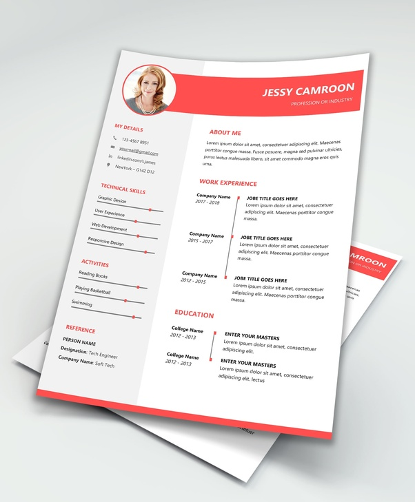 Simple Free Resume Template MS Word PDF Download
