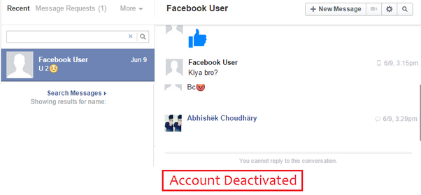 Meaning of deactivate facebook account