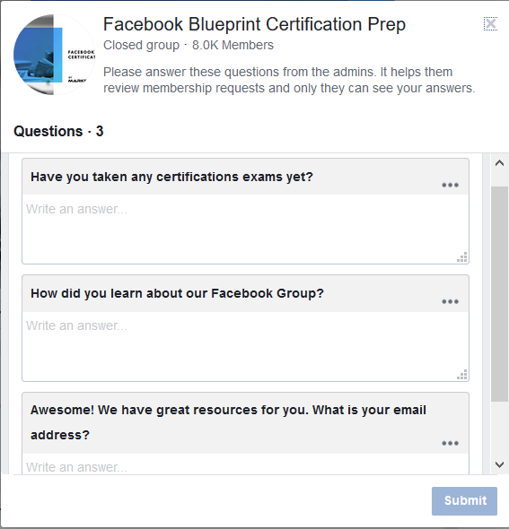 What is the best way to extract email addresses from Facebook groups
