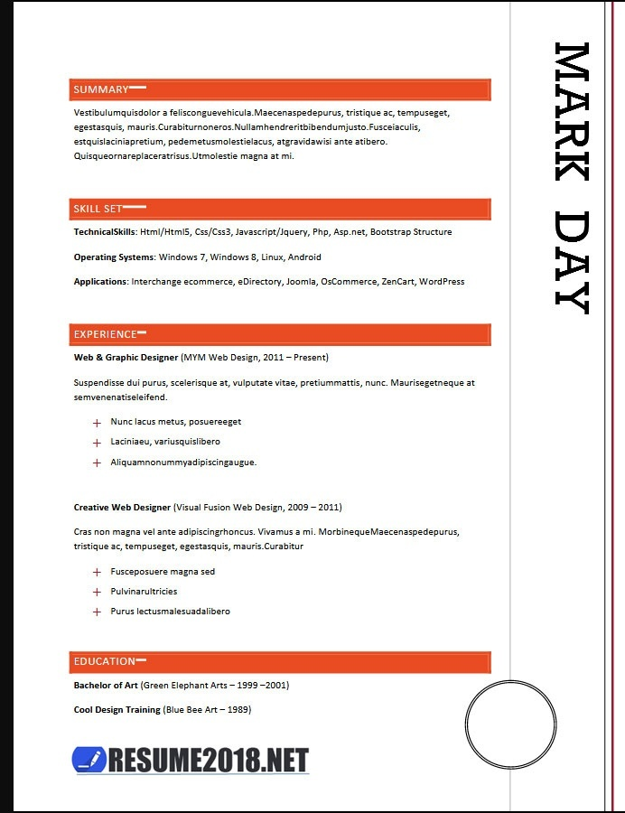 Which Is The Best Site For Best Free Resume Templates Quora