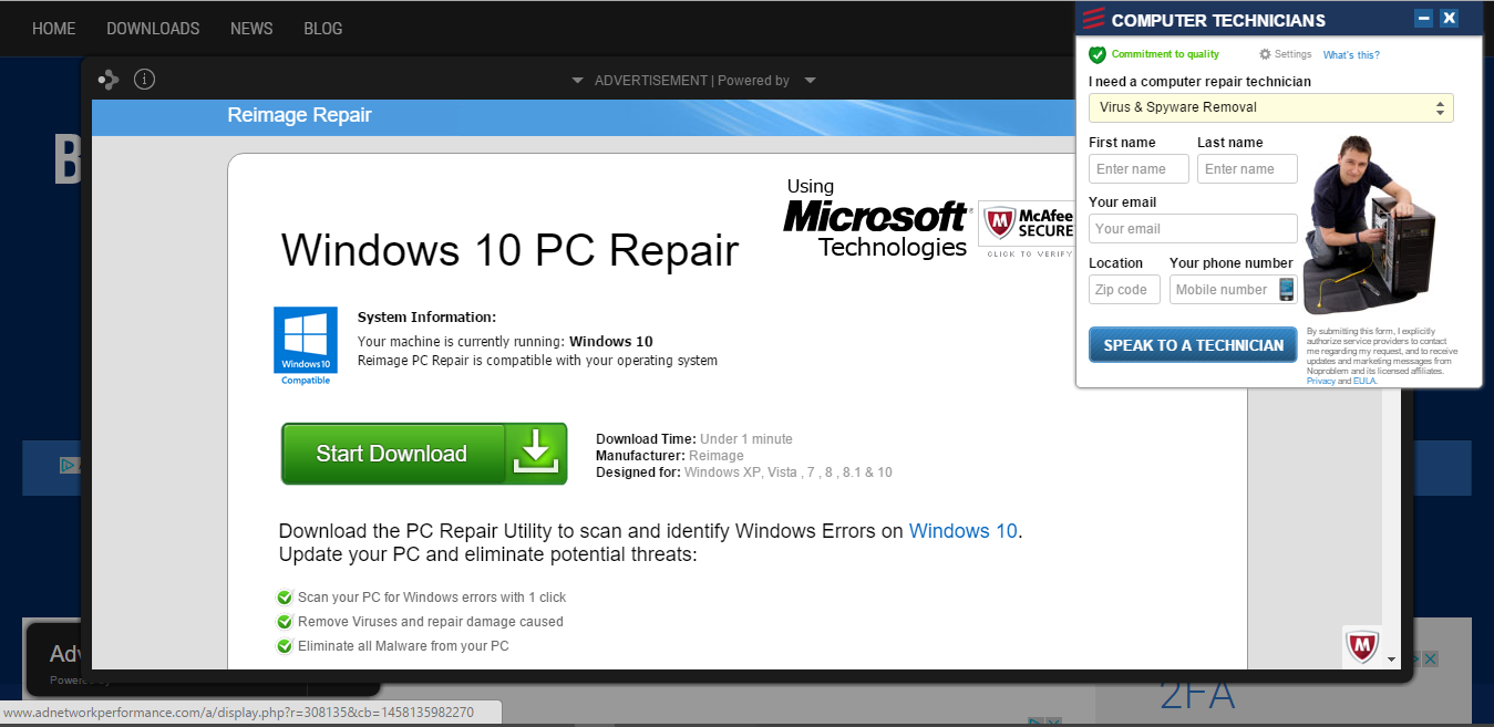windows 10 pc repair virus