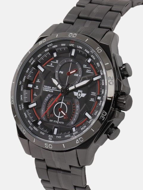 9edbd13a50433 Roadster Men Black Analogue Watch - With a solid round stainless steel  dial