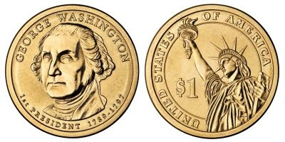 How much is a 1789-1797 George Washington one dollar coin worth? - Quora