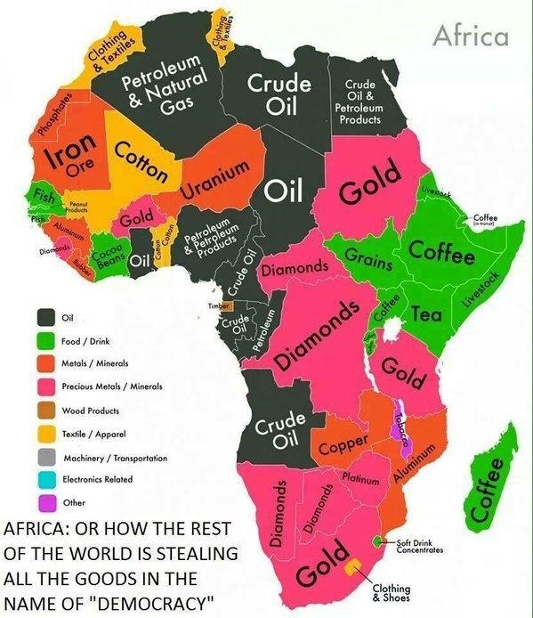 """Résultat de recherche d'images pour """"afrique, matières premières"""""""