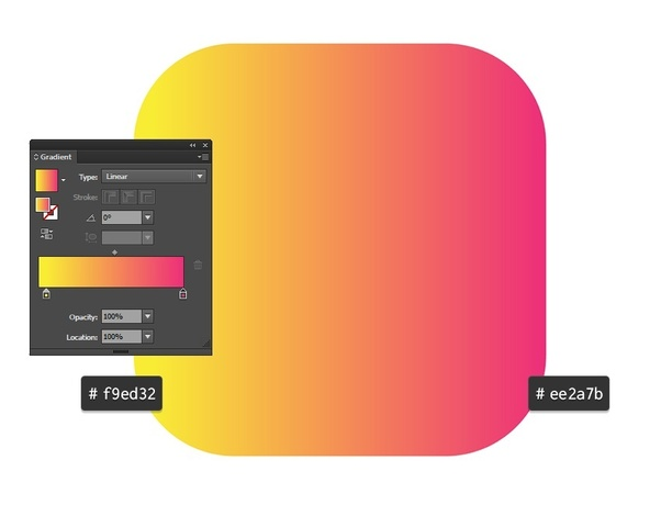 How To Do Color Gradient Similar To The Instagram Logo In Adobe