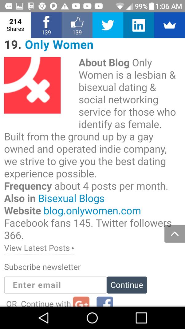 Lesbian Websites Like Facebook