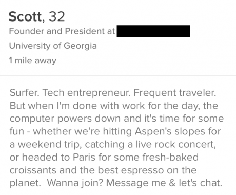 from Trent best things to write on a dating site
