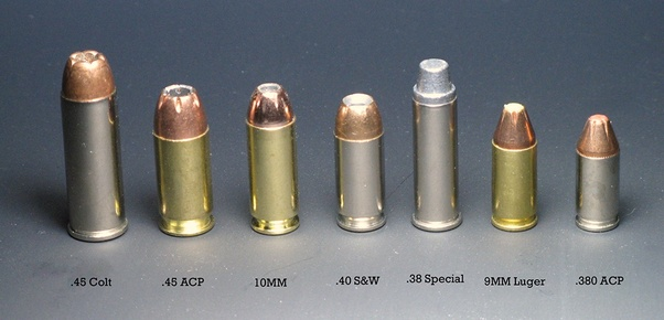 Which is bigger, the 45 ACP or the 10mm? - Quora