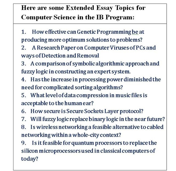 Essay Style Paper  Health Education Essay also Essay Papers Essay Topics About Computer Science  Mistyhamel Persuasive Essay Thesis Statement Examples