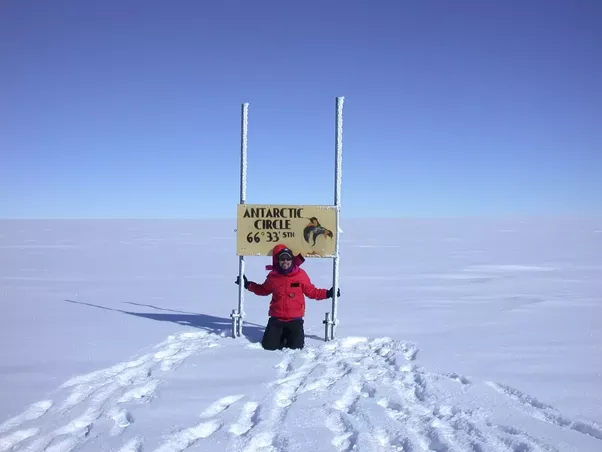 Have you seen the midnight sun in antarctica quora this is me at the antarctic circle and yes although this is on a route to somewhere this is just a sign in the middle nowhere publicscrutiny Images