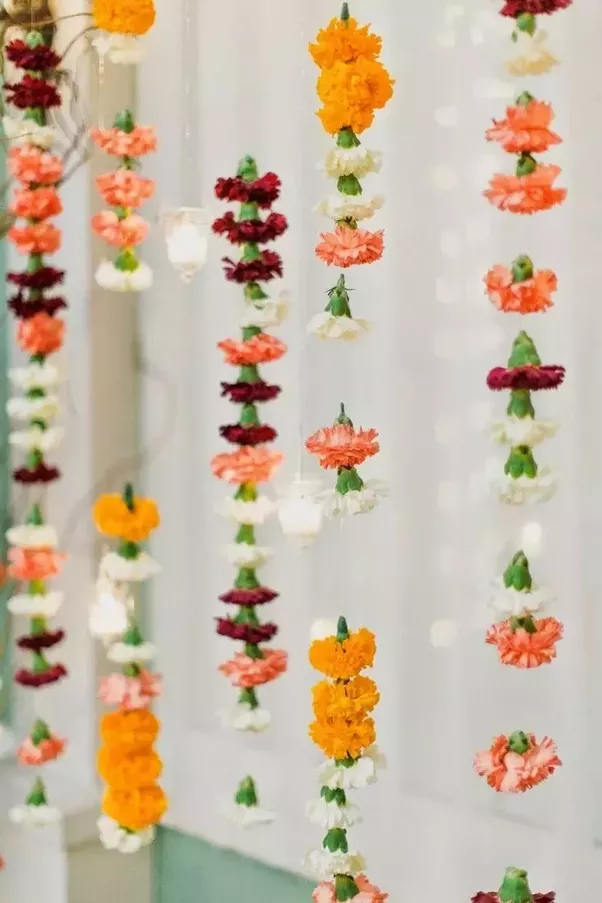 How to decorate a home with flowers on Diwali - Quora