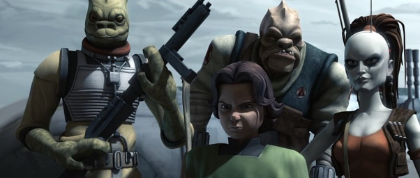 Bossk and Boba Fett in The Clone Wars