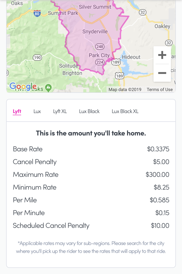 How Much Is A Mile >> Does Lyft Charge Per Mile Or Per Minute Quora