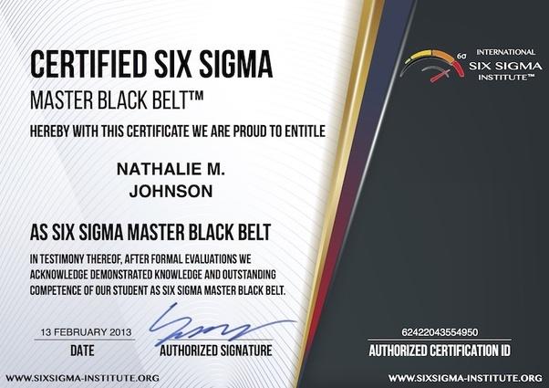 Why 6 sigma black belt certificate from International Six Sigma ...