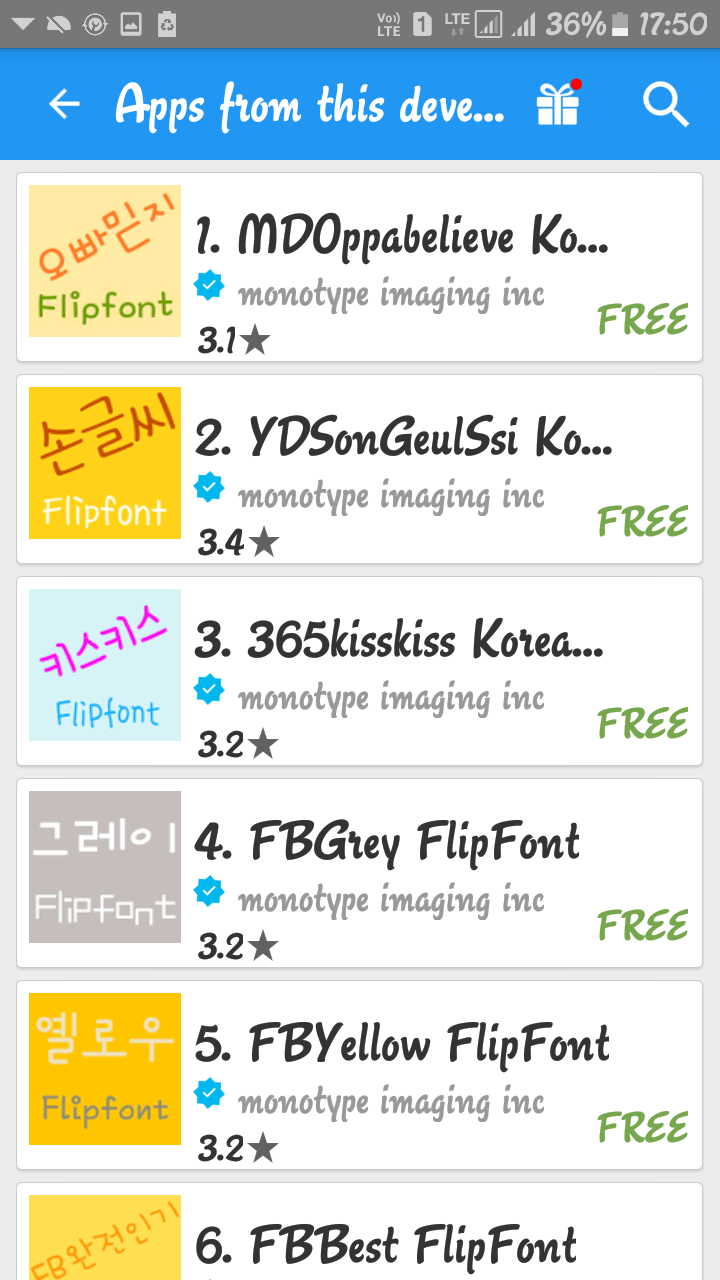 fonts free download for samsung