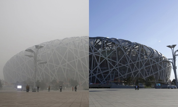 Beijing air quality improvement is clear as day here