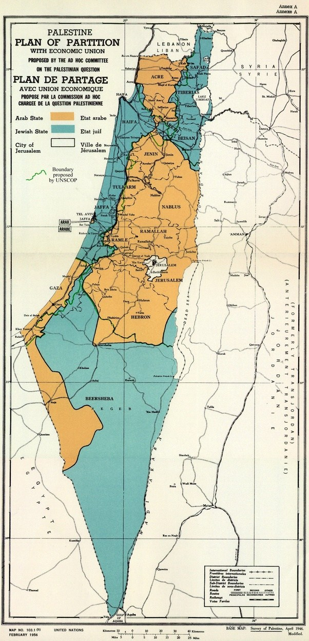 Why did the original partition plan of Palestine cede the Negev ...