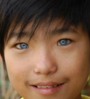 Can a black or Asian person have blue eyes? - Quora