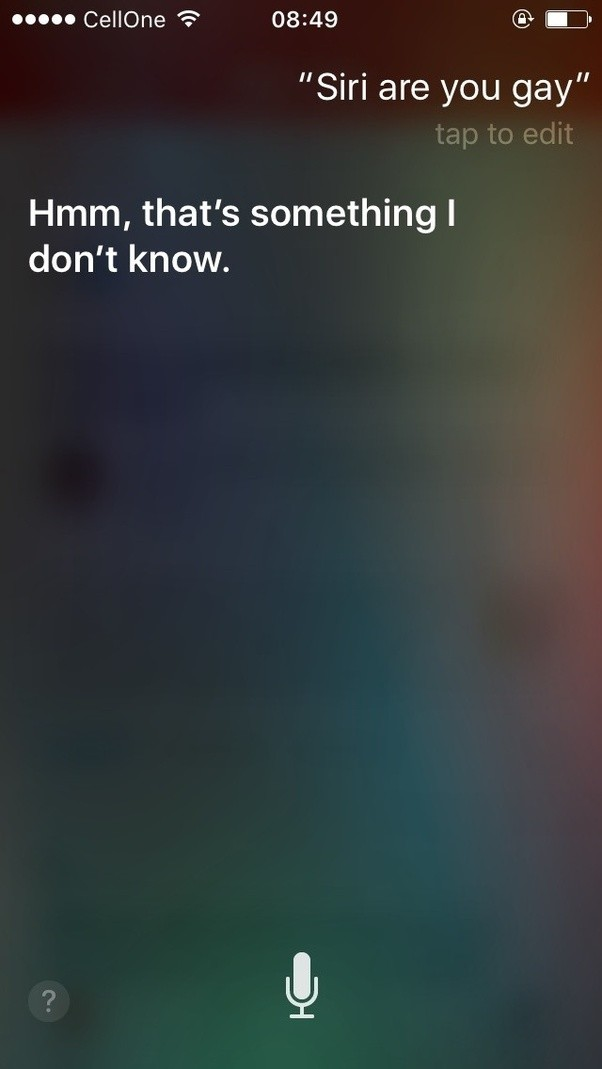 Is siri gay