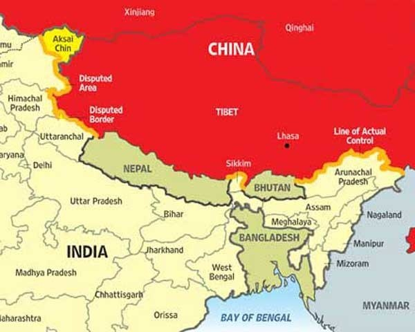 How many countries touch the boundaries of India? - Quora