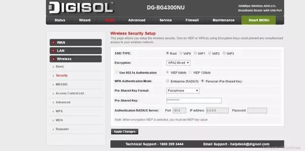 how to change my bsnl broadband wifi password