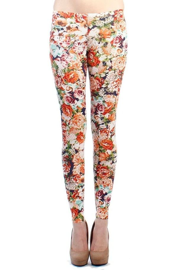 What can i wear with floral leggings quora for example in below floral print i couldnt recognize background colour and also flowers in print is light coloured so plain white top is suitable for it mightylinksfo